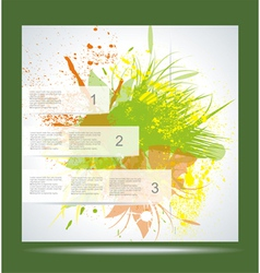 Brochure Layout Design Template Green abstract vector