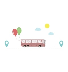 Bus Route Icon vector
