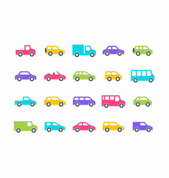 cars and trucks vector image