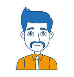 Cartoon portrait man business work professional vector