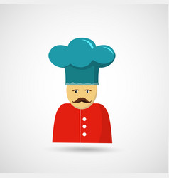 Chef in hat vector