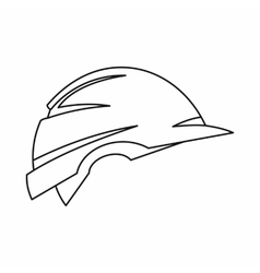 Construction helmet icon outline style vector