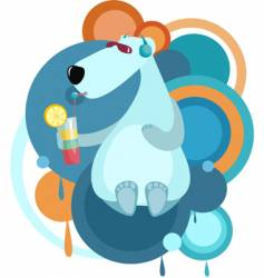 cool bear vector image