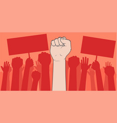 demonstration protesting crowds people vector image