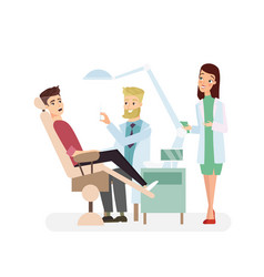 dentist man in office vector image