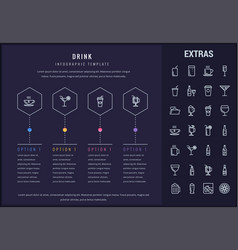 Drink infographic template elements and icons vector