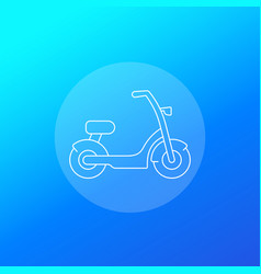 Electric bike scooter icon linear vector