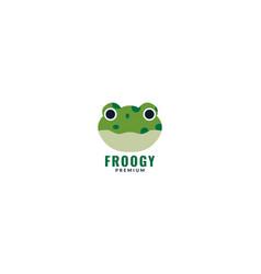 Face head tree frog logo design vector