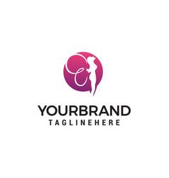 fairy logo design concept template vector image