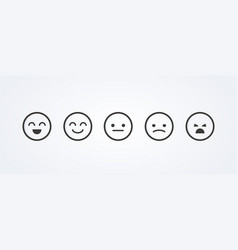 Feedback in form emotions user experience vector