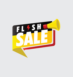 flash sale banner vector image