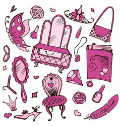 girls accessories for girls and girls vector image