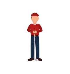golf player avatar icon vector image