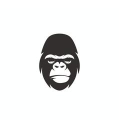 gorilla face logo design vector image