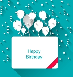 Greeting Invitation with Balloons for Happy vector image