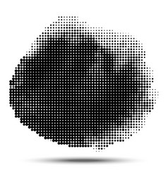 halftone circle pattern grunge spot halftone dots vector image