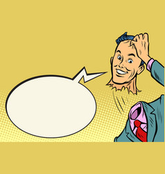 headless man is polite greeting vector image