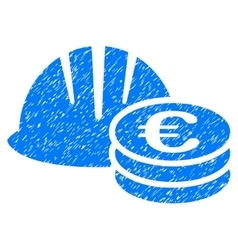 Helmet And Euro Coins Grainy Texture Icon vector