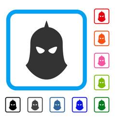 knight helmet framed icon vector image