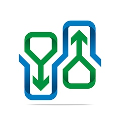Logo Abstract Infinity Arrow Symbol Design Icon vector image