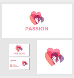 love passion icon design template vector image