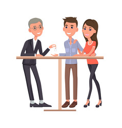 Man and woman buying ring vector