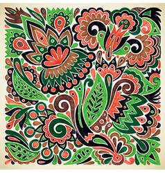 marker flower ethnic design vector image