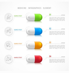 Medical pill template icons vector