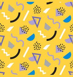 Memphis trendy seamless pattern vector