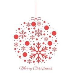 Merry Christmas ball ornament vector image