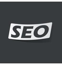 Monochrome SEO sticker vector