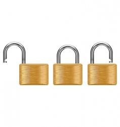 padlock set vector image
