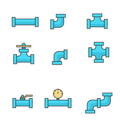 pipes and fittings tap vector image