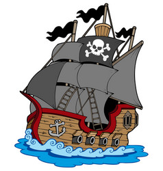 Pirate vessel vector