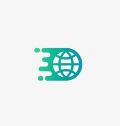 Planet earth logo design globe shipping vector