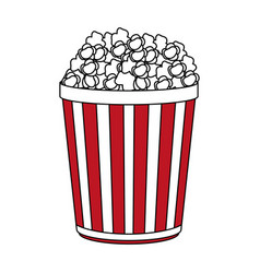 popcorn icon design vector image