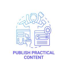 Publish practical content concept icon vector