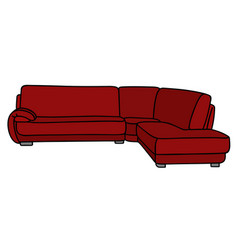 Red big couch vector