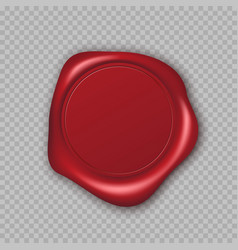 red wax seal with copy space empty blank mail vector image