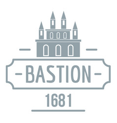 Royal bastion logo simple gray style vector