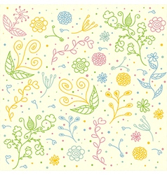 seamless floral pattern for textile design vector image