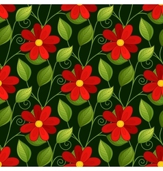 Seamless Floral Pattern Hand Drawn vector