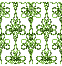 Seamless flower shamrock clover leaves vector image