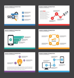 Search engine optimization presentation template vector