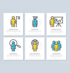 set human resources and business vector image