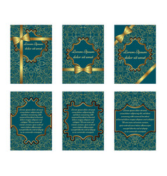 set of delicate greeting cards vector image