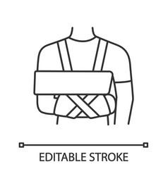 shoulder immobilizer linear icon vector image