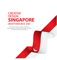 Singapore independent day poster creative design vector