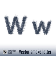 smoke letter vector image