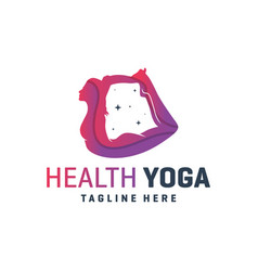 sports yoga training logo vector image